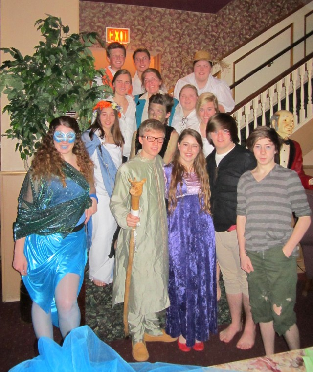 "Students from Stratford St. Micheal Secondary School performed scenes from ""The Tempest"" during dinner."