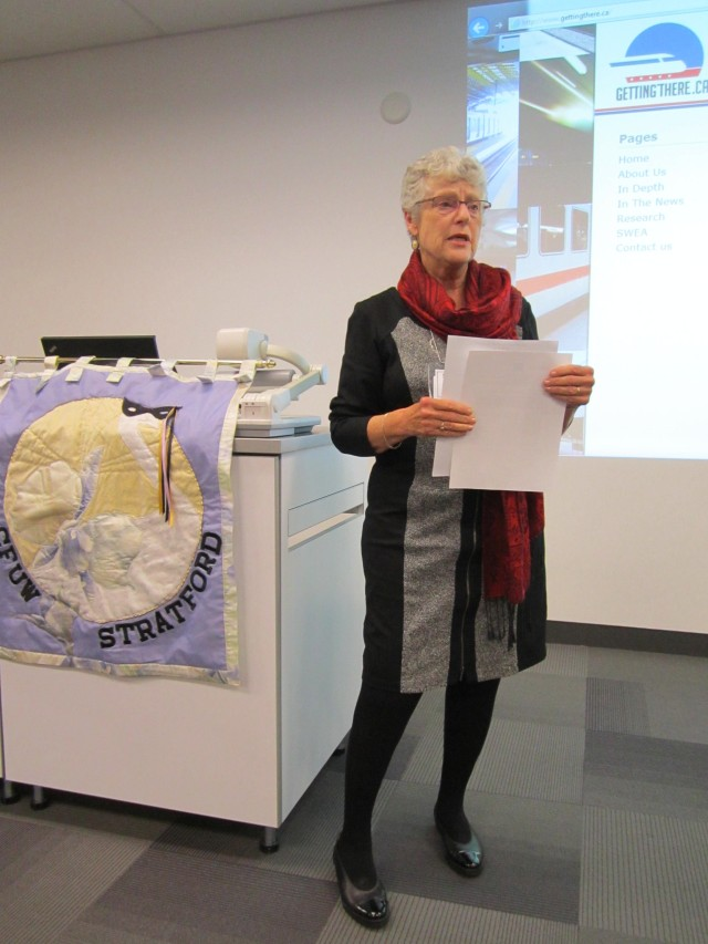 Sheila Clarke discusses the issue of public transportation and our Gettingthere.ca website.