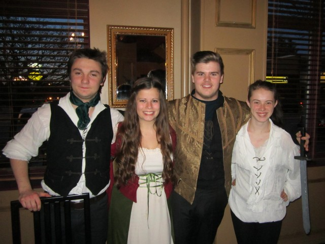 Students from St. Micheal's Catholic Secondary School Drama Department.