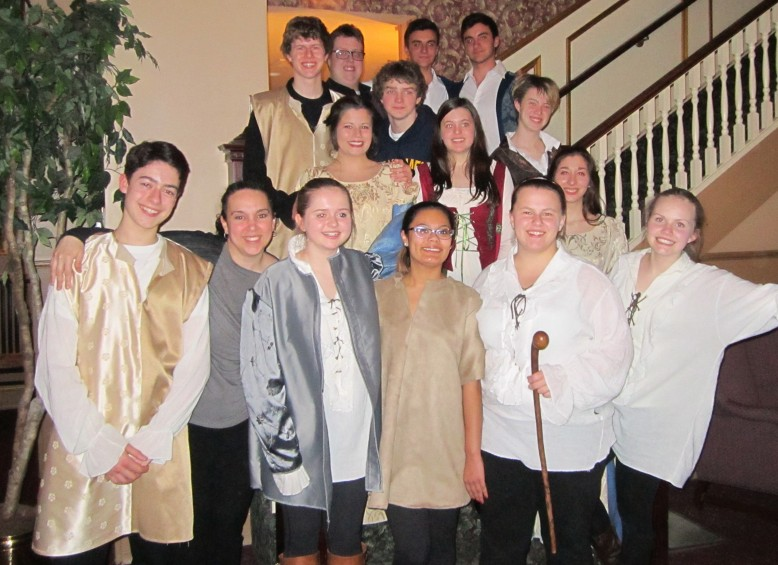 The Taming of the Shrew Cast Members from St Michael Catholic Secondary School Drama Department.