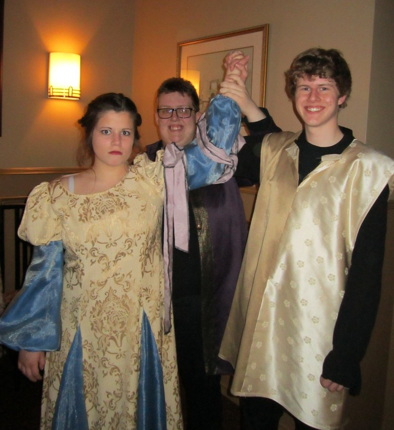 Baptista announces the engagement of Katherine and Petruchio.