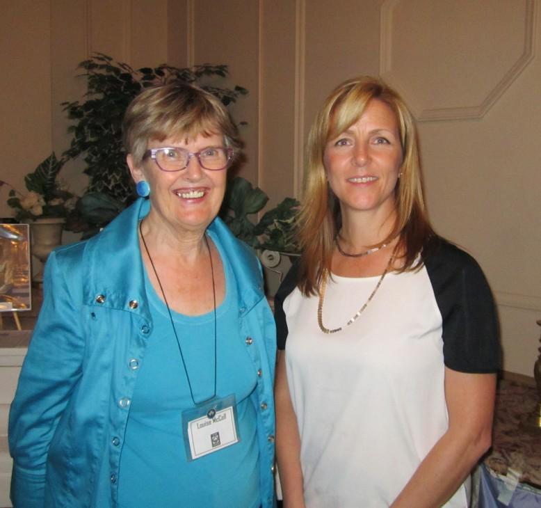 CFUW-Stratford President Louise McColl and Michelle Baldwin, Executive Director of Pillar Non-Profit Network