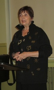 Barbara Collier engages the audience with her story.