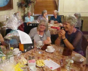 The Interest Group Basket Fundraiser was a great success. Nancy and Sylvia eye up the prize!
